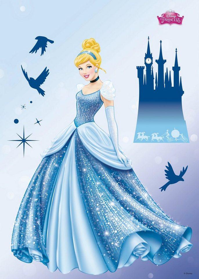 Wandsticker, Komar, »Princess Dream«, 50/70 cm in blau
