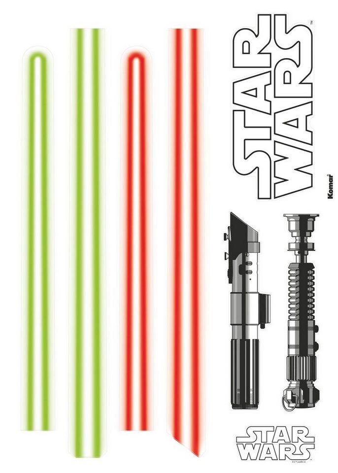 Wandsticker, Komar, »Star Wars Lightsaber«, 50/70 cm in grün/rot