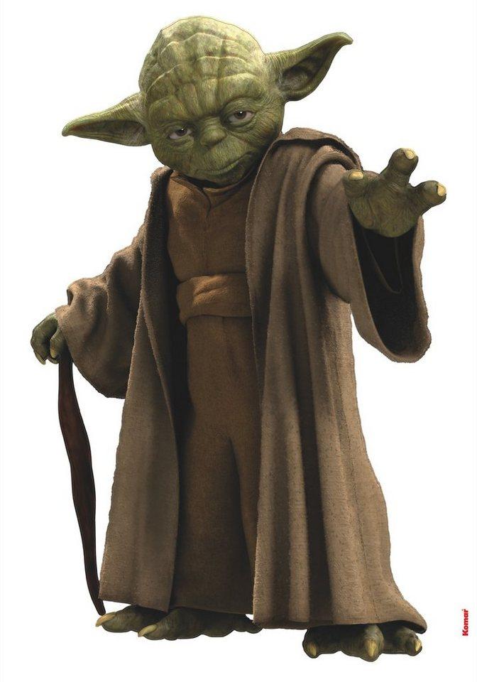 Wandsticker, Komar, »Star Wars Yoda«, 70/100 cm in braun/grün