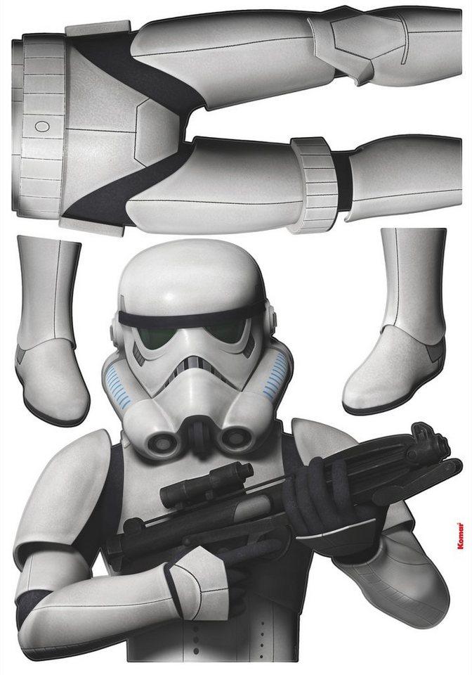 Wandsticker, Komar, »Star Wars Stormtrooper«, 70/100 cm in weiss/schwarz