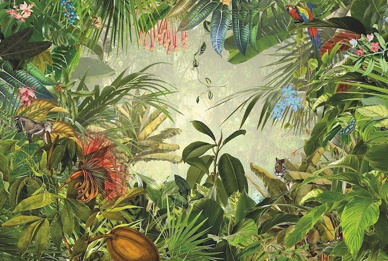 Vliestapete, Komar, »Into The Wild«, 368/248 cm in grün
