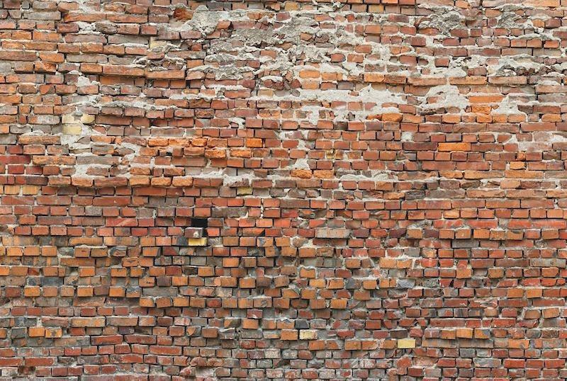 Vliestapete, Komar, »Bricklane«, 368/248 cm in rot