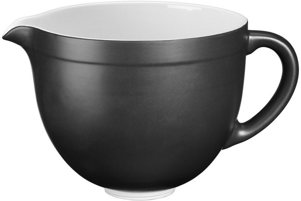 KitchenAid 4,8-L-Keramikschüssel 5KSMCB5MB, NUR für Artisan mit kippbarem Motorkopf in mattes schwarz