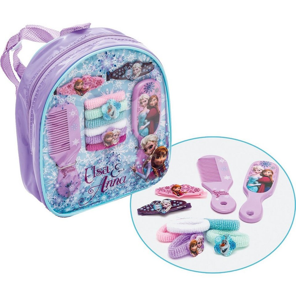 JOY TOY Haarschmuck-Set im Rucksack Disney Princess Frozen in lila