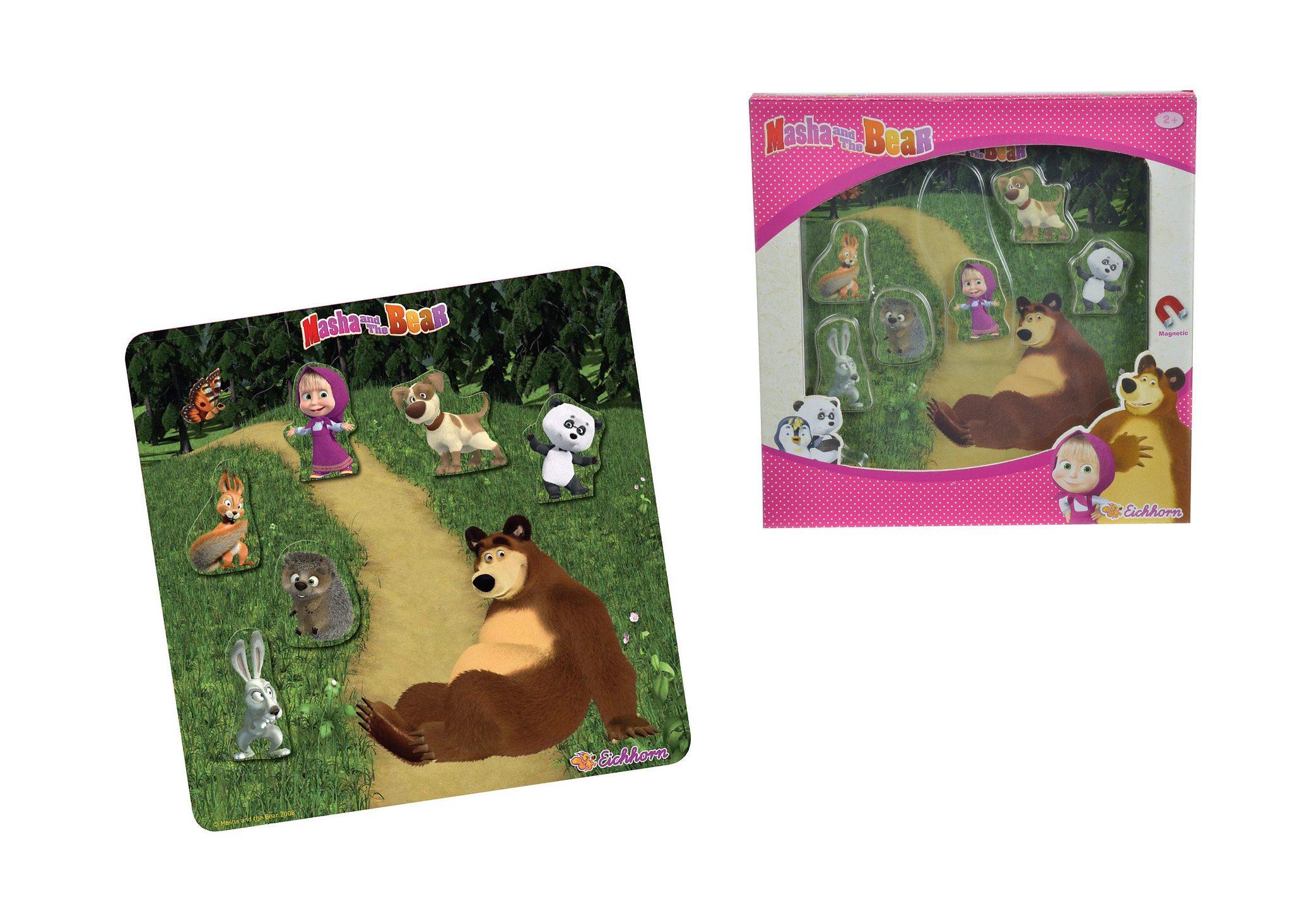 Eichhorn Puzzle, »Masha und der Bär - Magnetpuzzle«