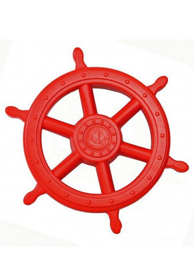 Woodinis-Spielplatz Spielturm Zusatz, »Piraten Steuerrad« in rot