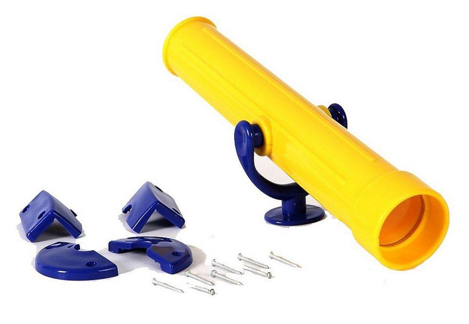 Woodinis-Spielplatz Fernrohr, »Woodinis Teleskop für Kinder« in gelb