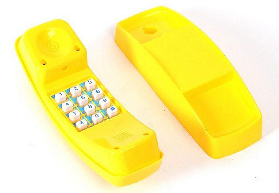 Woodinis-Spielplatz Spieltrum Zubehör, »Kinder Telefon« in gelb