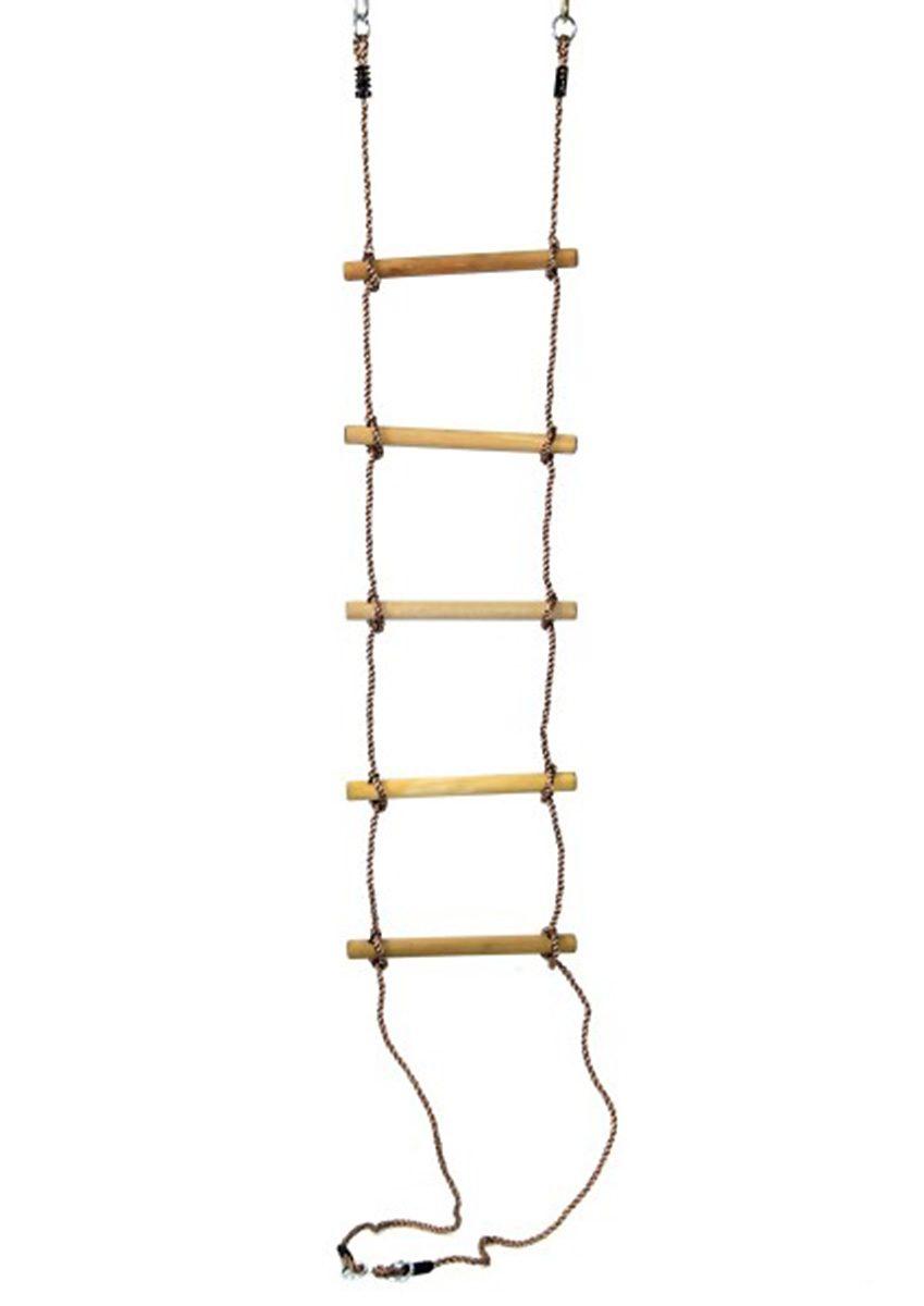 Woodinis-Spielplatz Strickleiter aus Holz, »Strickleiter Holzsprossen«