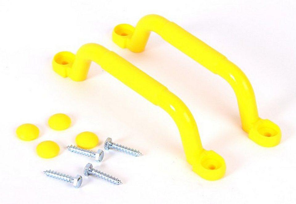 Woodinis-Spielplatz Kletterwand Handgriffe, »Kletterwand Handgriffe Set« in gelb