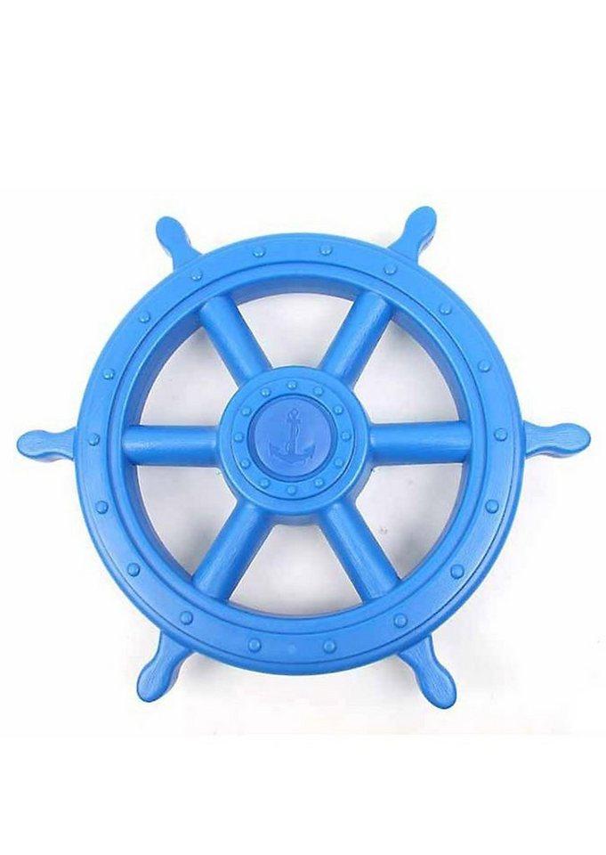 Woodinis-Spielplatz Spielturm Zusatz, »Piraten Steuerrad« in blau