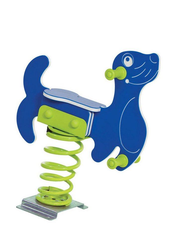 Woodinis-Spielplatz Federtier zum Aufdübeln, »Seehund Federwippe« in blau