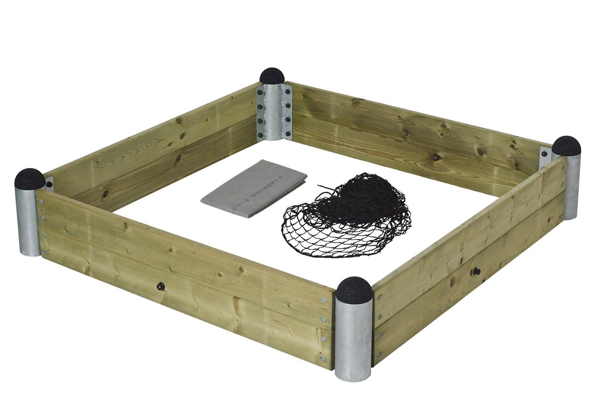 Sandkasten, quadratisch, »Sandkasten aus Holz mit Stahlecken«