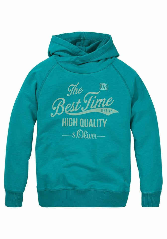 s.Oliver RED LABEL Junior Sweatshirt in washed out Optik in petrol