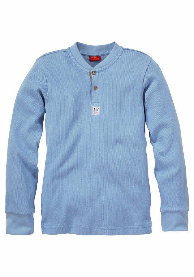 CFL Langarmshirt aus Rippware in hellblau