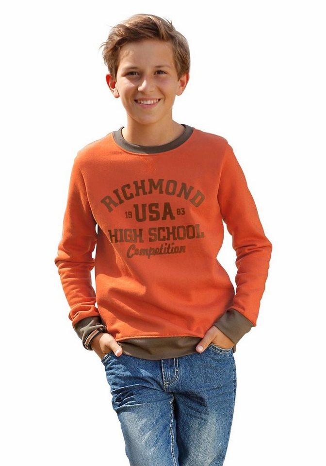 H.I.S Sweatshirt in orange