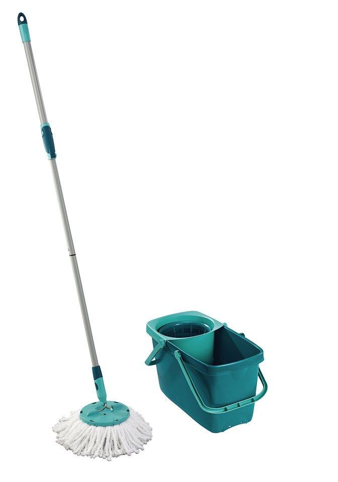 Bodenwischer-Set »Clean Twist Mop«, mit Rollwagen in türkis