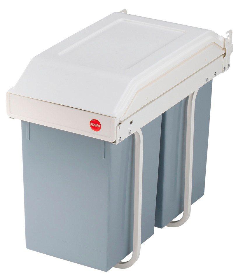 Hailo Einbau-Abfallsammler »Multi-Box«, 2x15 Liter in grau