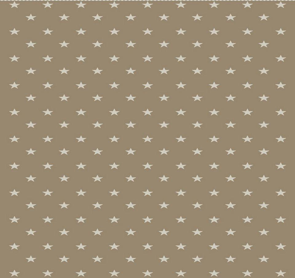 Wohndecke, Biederlack, »Texas Star«, mit kleinen Sternen in braun/natur