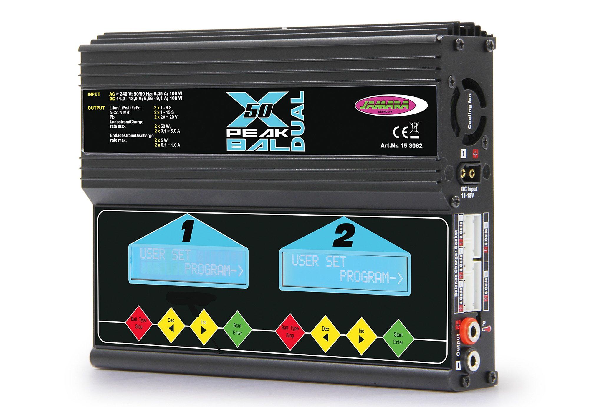 JAMARA RC-Ladegerät, »X-Peak 50 Dual Bal Edition«