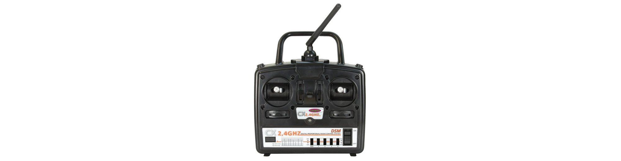 JAMARA RC-Fernsteuerung mit 4 Kanal Sender und 6 Kanal Empfänger, »CX 2,4 GHz Gas rechts«
