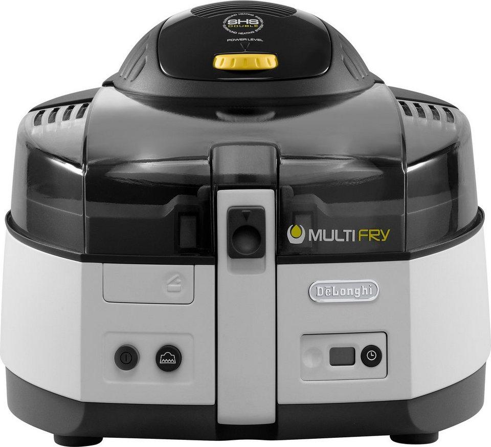 De'Longhi Heißluftfritteuse & Multicooker »MultiFry CLASSIC FH1163/1«, 1400 Watt, 1,5 Liter in weiß