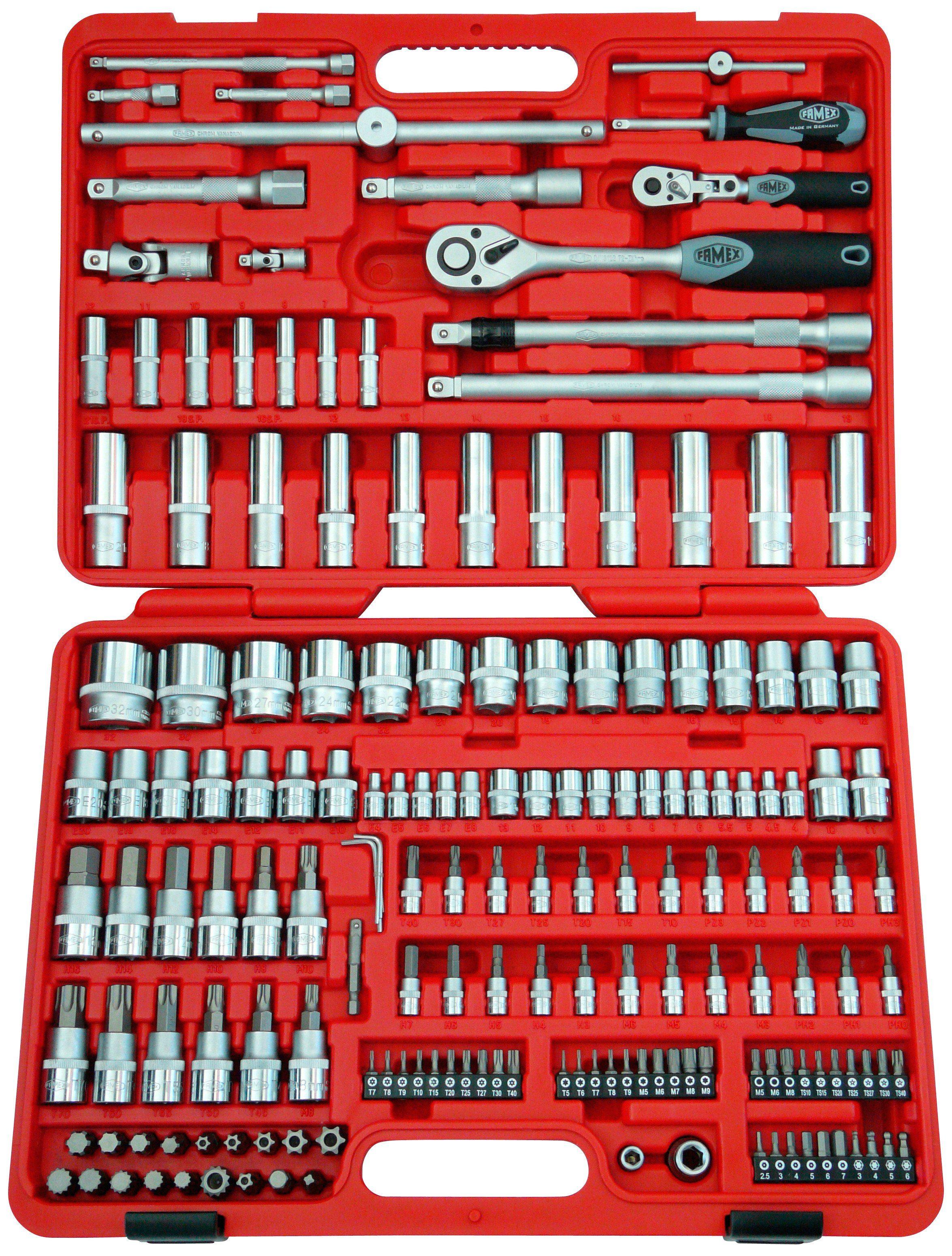 FAMEX Steckschlüsselsatz »High-End-Mechaniker 525-SD-21 «, (174-tlg.)