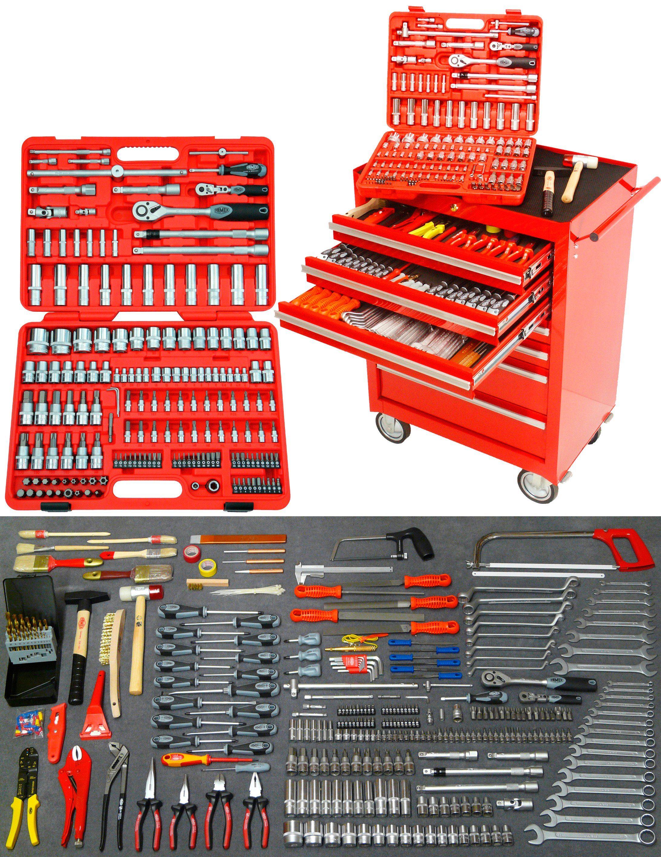 Werkstattwagen mit umfangreicher Werkzeugbestückung »FAMEX 812-10«