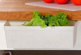 Küchenabfallsammler in weiß