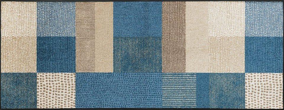 Läufer, wash+dry by Kleen-Tex, »Lanas«, rutschhemmend beschichtet, In- und Outdoor in beige-blau