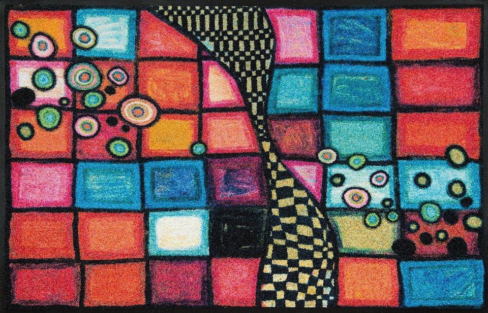 Läufer, wash+dry by Kleen-Tex, »Tiger Tundra«, rutschhemmend beschichtet, In- und Outdoor in multicolor