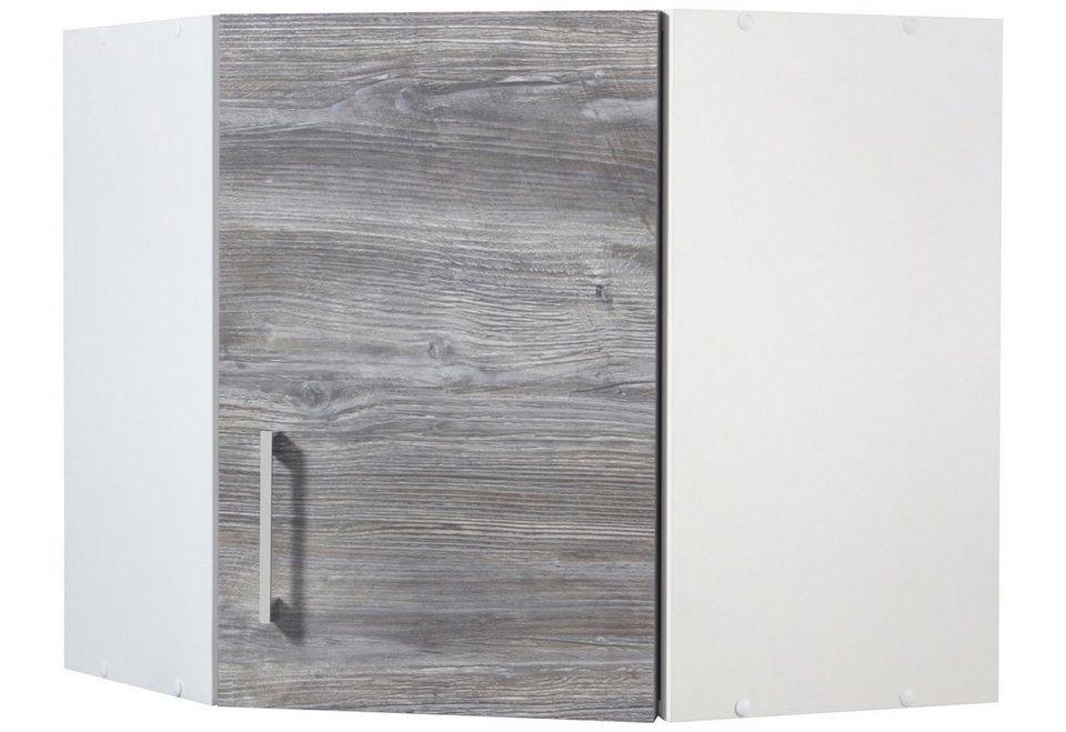 Eck-Hängeschrank »Philadelphia«, Breite 60 x 60 cm in eichefarben vintage