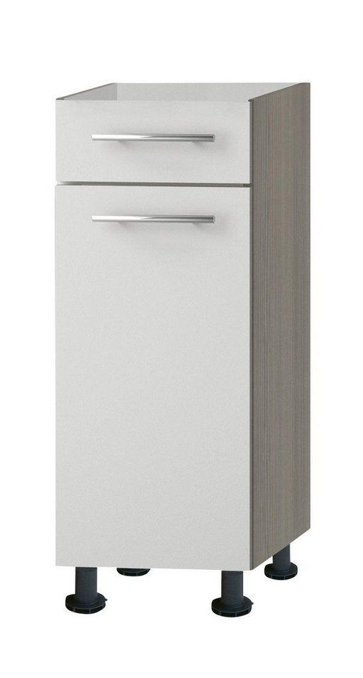 Küchenunterschrank »Torger«, Breite 30 cm in piniefarben nougat/weiß