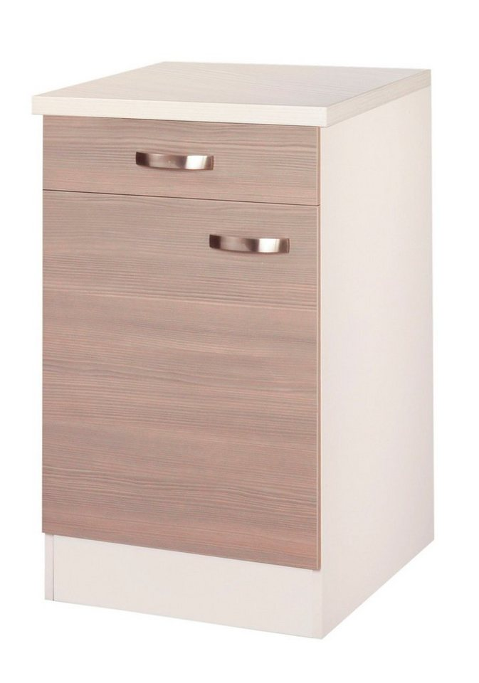 Küchenunterschrank »Vigo«, Breite 50 cm in piniefarben nougat/champagnerfarben