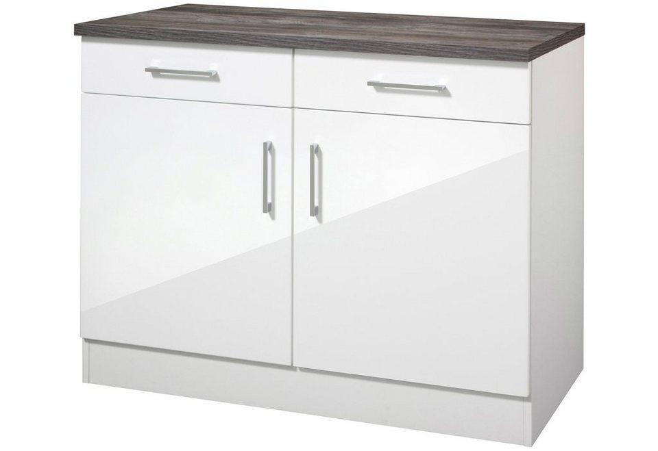 Küchenunterschrank »Philadelphia«, Breite 100 cm in weiß/eichefarben vintage