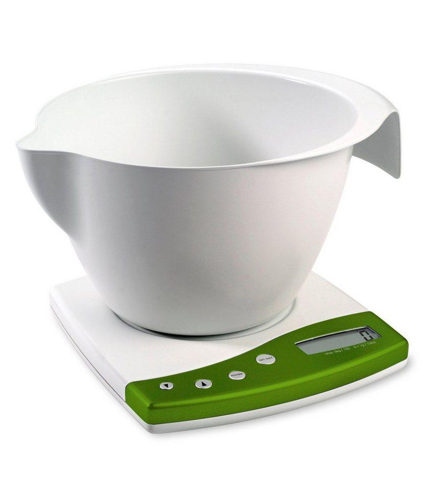 Küchenwaage, weiß in weiß