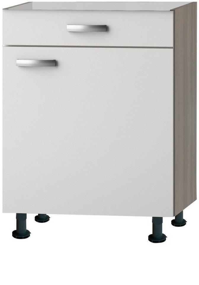 Küchenunterschrank »Torger«, Breite 60 cm in piniefarben nougat/weiß