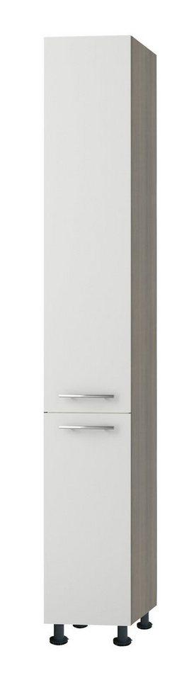 Apothekerschrank »Torger«, Höhe 211,8 cm in piniefarben nougat/weiß