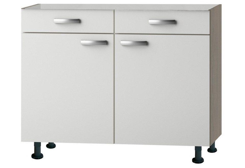 Küchenunterschrank »Torger«, Breite 100 cm in piniefarben nougat/weiß