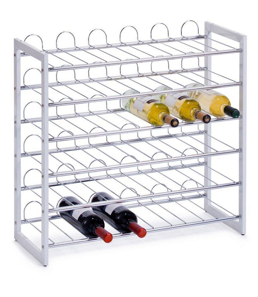 zeller weinregal f r 36 flaschen online kaufen otto. Black Bedroom Furniture Sets. Home Design Ideas