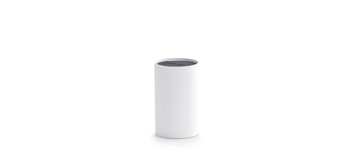 Messerblock, weiß, Höhe 18 cm