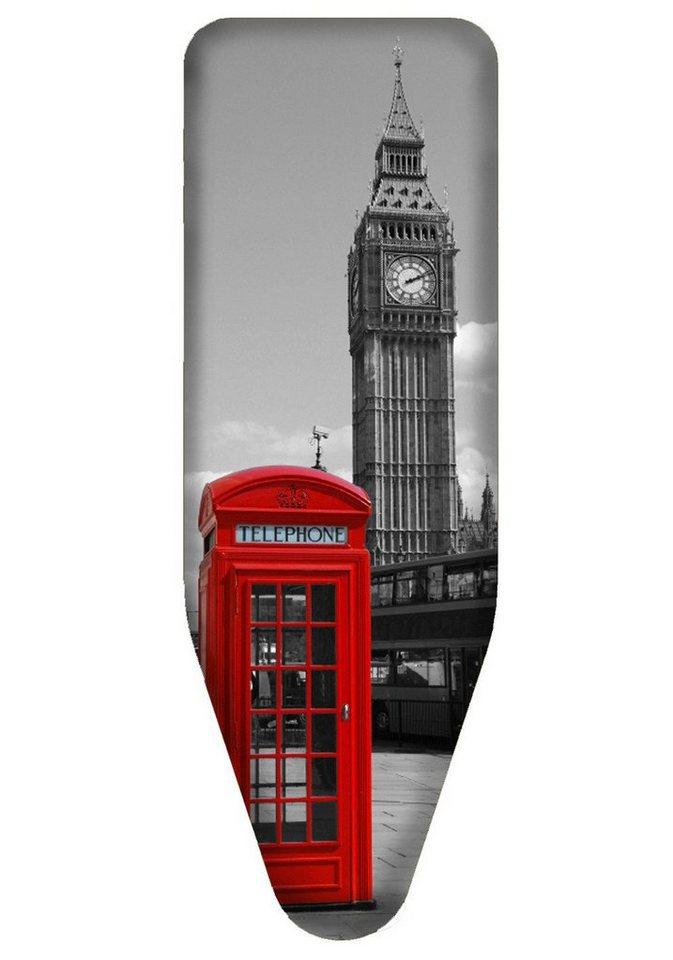 Bügelbrettbezug »London«, in 3 Größen in grau