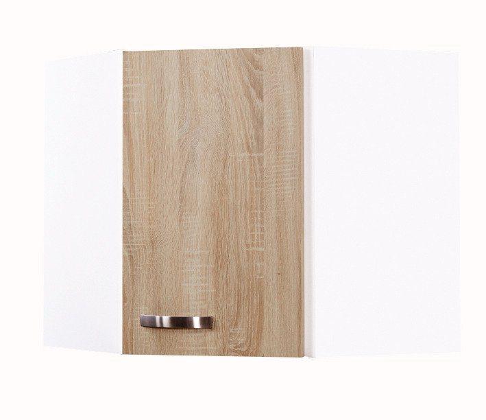 Eck-Hängeschrank »Padua«, Breite 60 x 60 cm in eichefarben