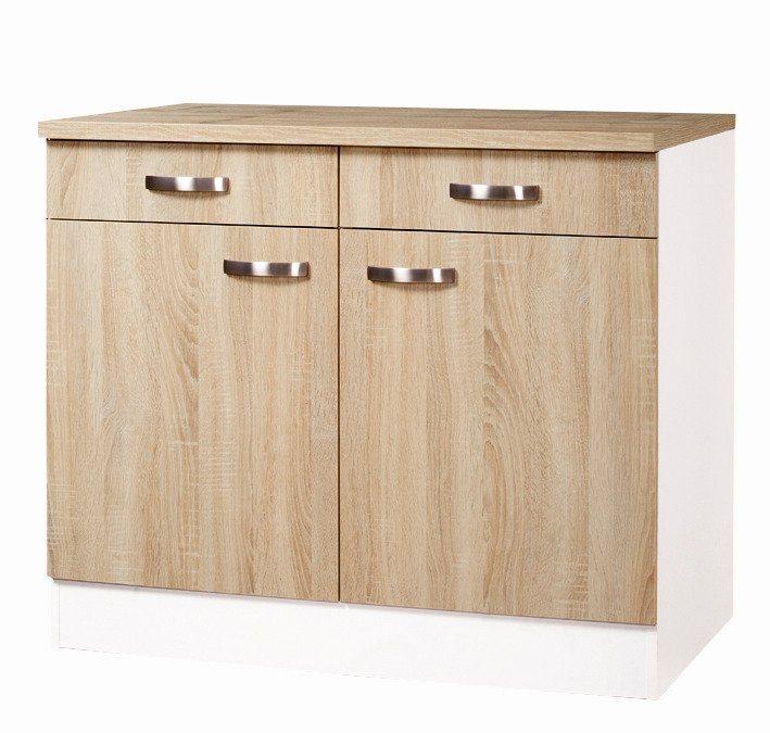 Küchenunterschrank »Padua«, Breite 100 cm in eichefarben