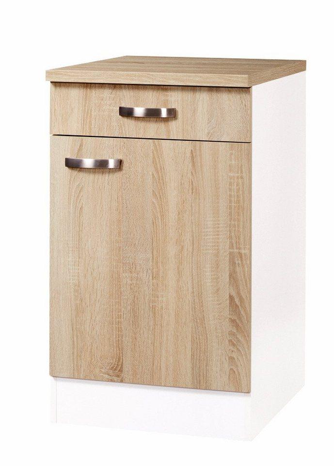 Küchenunterschrank »Padua«, Breite 50 cm in eichefarben