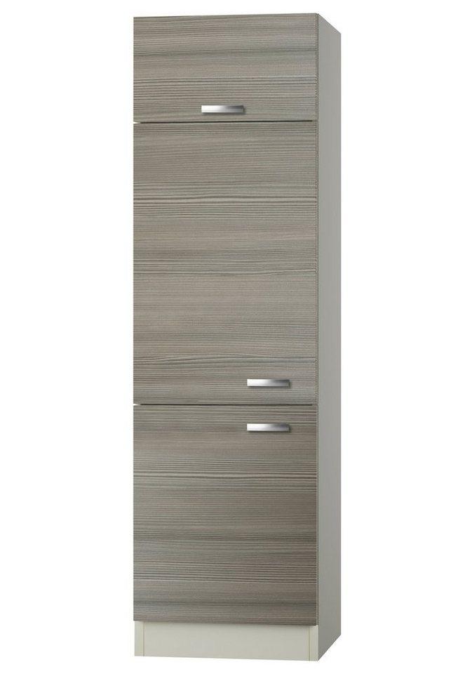Kühlumbauschrank »Vigo«, Höhe 206,8 cm in piniefarben nougat/champagnerfarben