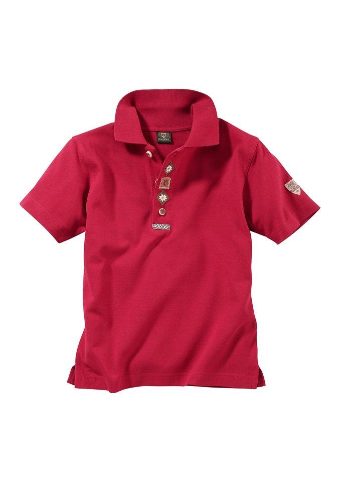 Kinder Trachtenshirt, OS-Trachten in rot