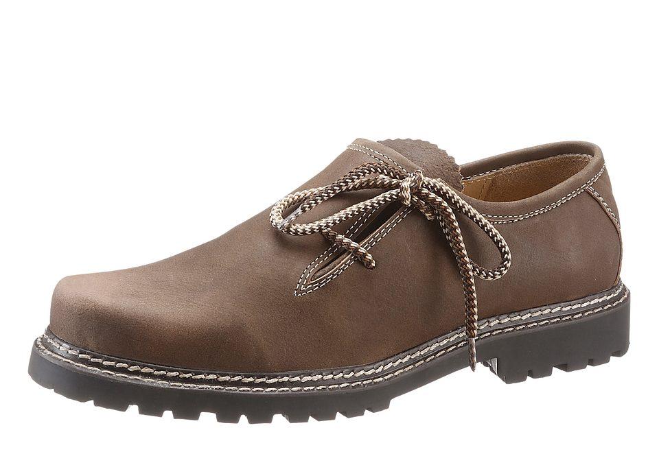 Herren Haferl mit gemusterten Schnürsenkel, Country Line online kaufen  braun