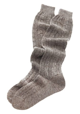 LUSANA Ilgos kojinės su dygsniavimas