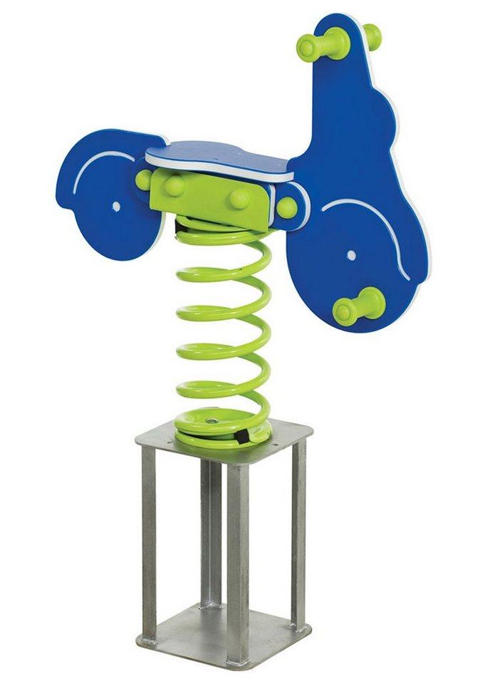 Woodinis-Spielplatz Federtier zum Einbetonieren, »Roller Federwippe« in blau